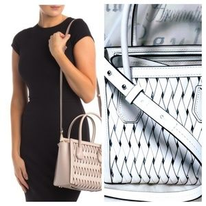 Michael Kors basket tote purse, White EUC *firm*